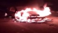 UP: Car catches fire in Kanpur; no casualties reported
