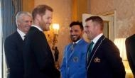 Prince Harry sledges Australian skipper Aaron Finch at Buckingham Palace