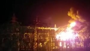 Indore: Fire breaks out in transformer of main power house