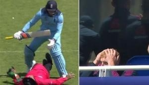 Jason Roy gets overexcited, pushes umpire after hitting his first World Cup century; see video