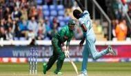 World Cup 2019: जोफ्रा आर्चर ने इतनी रफ्तार से फेंकी गेंद की बेल्स पर लगकर बॉल गई छक्के के लिए, देखें Video
