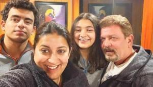 Smriti Irani shares adorable pic of hubby Zubin Irani and son; her caption wins Internet