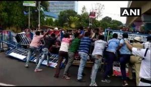 West Bengal: Teachers protest at Bikash Bhavan, demand higher wages