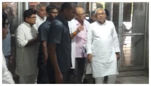 Encephalitis deaths: 'Nitish Kumar go back' slogans greet Bihar CM at SKMCH hospital