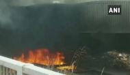 Delhi: Fire breaks out in scrap pile under Barapullah flyover