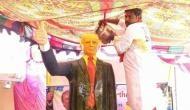Telangana: Man worships Donald Trump's statue