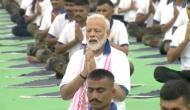 Yoga Day 2019: मोदी ने रांची तो अमित शाह ने रोहतक में किया योगासन