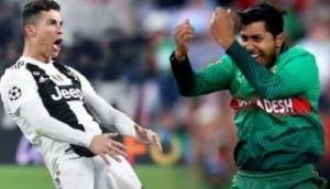 ICC compares Bangladesh bowler Soumya Sarkar to Cristiano Ronaldo; gets trolled brutally
