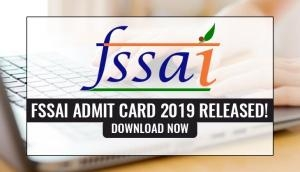 FSSAI Admit Card 2019 Released! Here's how to download hall ticket for managerial posts exam