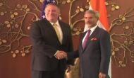 S Jaishankar, Mike Pompeo hold talks to strengthen Indo-US strategic partnership