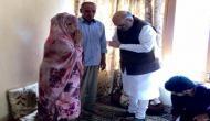 गृह मंत्री शाह का कश्मीर दौरा, शहीद पुलिस इंस्पेक्टर अरशद खानके परिजनों से की मुलाकात