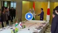 Video: PM मोदी को देखते ही दौड़े आए जापानी प्रधानमंत्री शिंजो आबे और लगा लिया गले