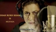 Shah Rukh Khan shares The Lion King Hindi teaser featuring himself as Mufasa; Video inside