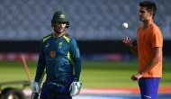 Arjun Tendulkar bowls for Australia team ahead of their clash against New Zealand