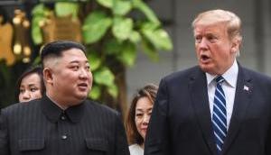 Donald Trump meets Kim Jong Un in N Korea, scripts history