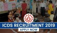ICDS Recruitment 2019: Over 2000 vacancies released for Lady Supervisor in Anganwadi; check important details