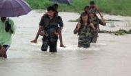 Large scale relief operation by Indian Army underway in flood hit areas of lower Assam