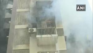 Gujarat: Major fire breaks out in residential building in Ahmedabad