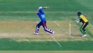 Watch: Yuvraj Singh's bizarre dismissal in GT20 league will shock you