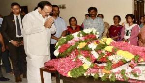 Venkaiah Naidu breaks down in Rajya Sabha remembering Jaipal Reddy
