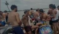 घाट पर शराब पार्टी करते कैमरे में कैद हुए कांवड़िये, वीडियो वायरल