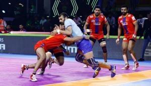 प्रो-कबड्डी लीग 2019: यूपी योद्धा और तमिल थलाइवा का मैच हुआ टाई, अजय ठाकुर ने टीम को हार से बचाया