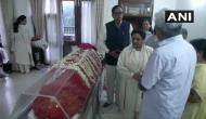Mayawati pays her last respects to Sushma Swaraj