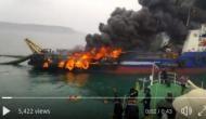 Video: विशाखापट्टनम में कोस्ट गार्ड जहाज में लगी भीषण आग, पानी में कूदे 29 क्रू मेंबर