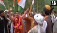 J-K: BJP President Ravinder Raina shows dance moves during 73rd I-Day celebrations