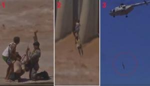 Video: कश्मीर में लोगों के लिए फरिश्ता बने सेना के जवान, नदी में उफान के बीच हेलिकॉप्टर से किया एयरलिफ्ट