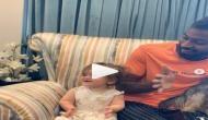 हार्दिक पांड्या ने की बेबीसिटिंग, देखें वायरल वीडियो