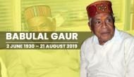 Babulal Gaur Passes Away: Trade union leader who went on to become Madhya Pradesh Chief Minister