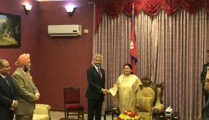 EAM Jaishankar meets Nepal President Bidya Devi Bhandari in Kathmandu