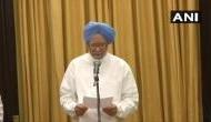 Former PM Manmohan Singh takes oath as Rajya Sabha member from Rajasthan