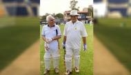 Congress leader Kapil Sibal shares old picture with Arun Jaitley playing cricket together