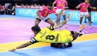 प्रो-कबड्डी लीग 2019: तेलुगु टाइटंस ने रोमांचक मुकाबले में जयपुर पिंक पैंथर्स को 24-21से हराया, अंक तालिका में टॉप पर जयपुर