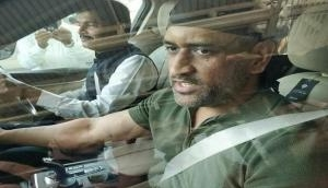 MS Dhoni spotted in Jaipur in all-new avatar after his stint with Indian Army over: Viral Video