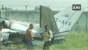 अलीगढ़ में प्राइवेट प्लेन क्रैश, विमान में सवार सभी लोग सुरक्षित