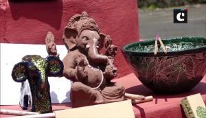 Mangaluru man makes Ganesha idols that grow into plants