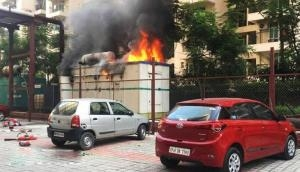 Greater Noida: Generator inside residential society catches fire