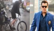 VIDEO: मुंबई में बारिश का कहर, साइकिल से दंबग-3 की शूटिंग पर पहुंचे सलमान खान