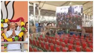 हरियाणा में पीएम मोदी ने फूंका चुनावी बिगुल, 'रैली में खाली रही हजारों कुर्सियां'