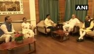 Assam: Amit Shah meets CM Sarbananda Sonowal, Governor Jagdish Mukhi