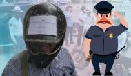 Hilarious! Man pastes DL, RC, insurance slip on his helmet to save from hefty fines