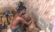 Tamil Nadu: Specially-abled man makes clay artefacts for livelihood