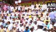 Bengaluru: Vokkaliga Sangha protests against Congress leader DK Shivakumar's arrest