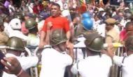 West Bengal: Bharatiya Janata Yuva Morcha protest against high electricity tariff in Kolkata