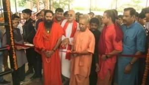 Chitrakoot: Yogi Adityanath inaugurates ropeway at Lakshman Pahadi, visits primary school