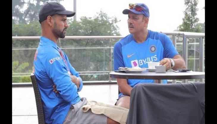 Here's how Ravi Shastri and Shikhar Dhawan spent their morning!