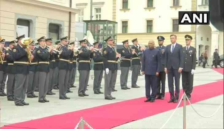 Slovenia: President Ram Nath Kovind receives ceremonial welcome in Ljubljana